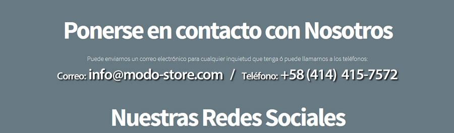 MODO DesignWorks - Contacto