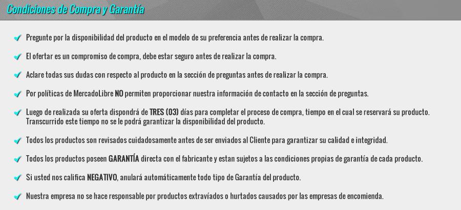 MODO Store - Condiciones de Compra y Garantía